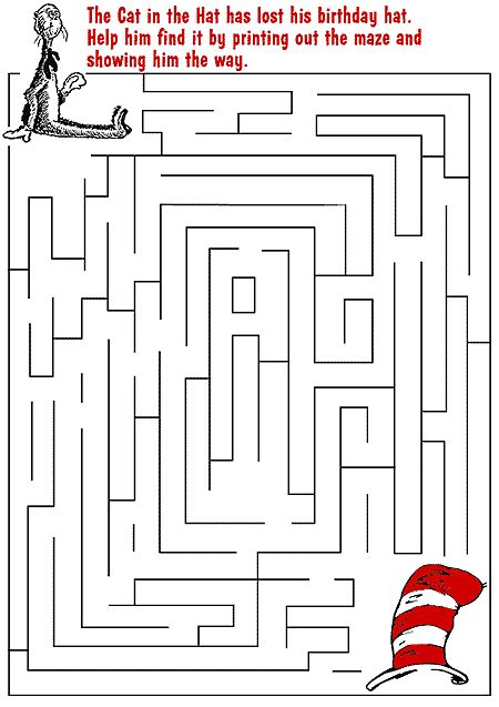 printable dr. seuss maze (for kids)