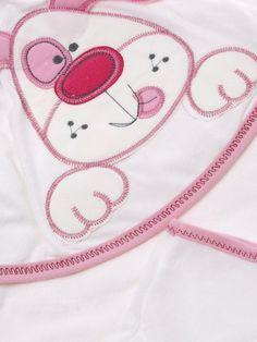 Παιδικά ρούχα AZshop.gr - Donino σετ μπουρνουζοπετσέτα-γάντι «Sweet Dog» €9,90