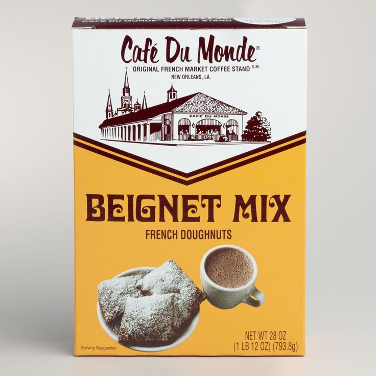 In New Orleans, nothing goes better with cafe' au lait than Café Du Monde Beignets. Beignets are puffy square French doughnuts that are traditionally covered in powdered sugar. >> #WorldMarket Mardi Gras