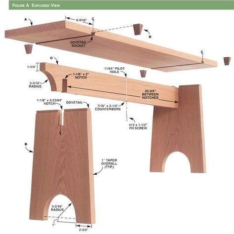 """Résultat de recherche d'images pour """"Sliding Dovetail Bench – Woodworking Proje…"""