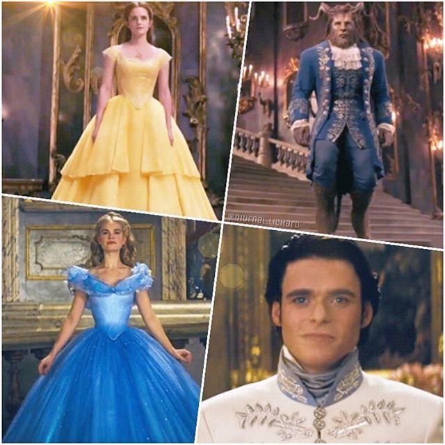 Cenicienta y Bella mas sus principes encantados...las mejores peliculas de Disney