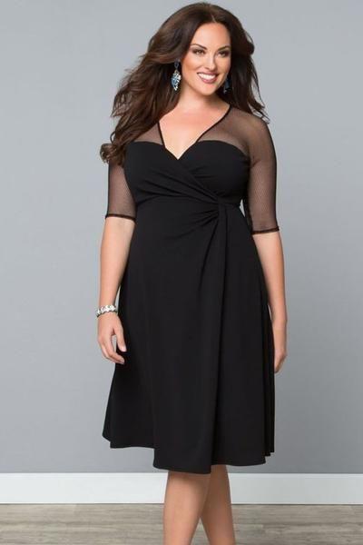 Royal Blue Big Size Sugar and Spice Dress Half Sleeve Formal Work Dress Vestidos Autumn-Dress-SheSimplyShops