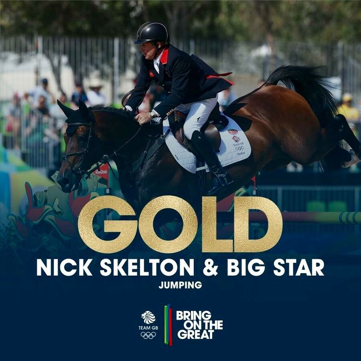 Team GB's FIRST EVER GOLD in the Jumping individual! A faultless performance from this pair! 👏👏👏