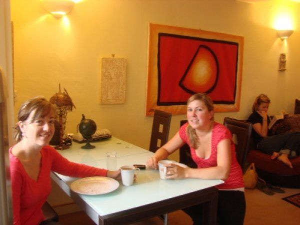 Un'area comune dell'ALLGIRLZ Hostel, ostello per sole ragazze a Edimburgo