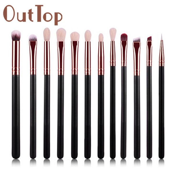 Best Deal Hot ! Good Quality 12Pcs Cosmetic Brush Makeup Brushes Eyeshadow Blush Lip Brushes Sets Kits Tools for Women Beauty