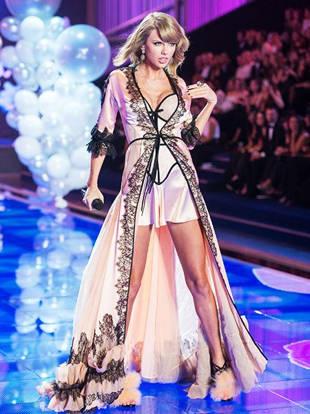 Taylor Swift was sexy enough to wear her lingerie bathrobe dress at the Victoria's Secret Fashion Show.
