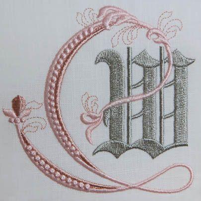 Fleur de Lis Alphabet- W: