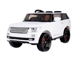Joy Automatic Range Rover Vogue  — 23500р. --------------------- Перед вами детский электромобиль премиум класса. Модель Range Rover Vogue в деталях скопирована со взрослого Рендж Ровера. Двухместная мини-машина полностью соответствует своему статусу - как внешне, так и комплектацией.  Электромобиль Range Rover Vogue буквально излучает свет. В фарах машины установлены цветные светодиоды, приборная панель в салоне оборудована подсветкой, заднее стекло также подсвечивается.  В салоне…