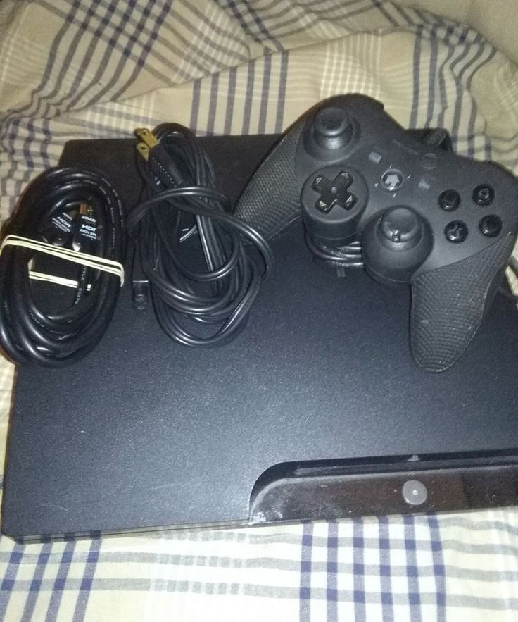 Sony PlayStation 3 (CECH 2501A) 160 GB Slim PS3 Console Wired Controller Tested  #Sony