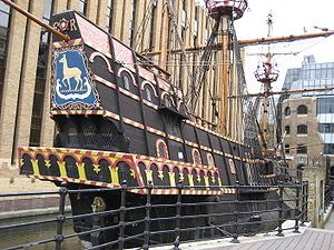 The Golden Hind (replica docked in Southwark)