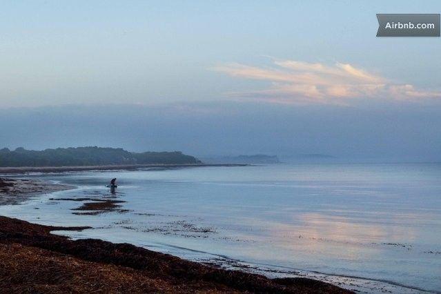 Sunrise paddel at D`Estree Bay