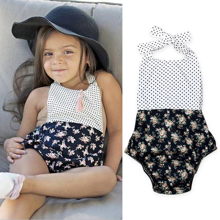 >> Click to Buy << 2017 New baby girls bodysuit floral clothes lovely kids casual fot bow jumpsuit summer infant straps overall 16O101 #Affiliate