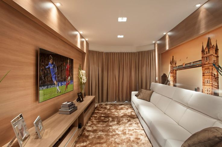 Busca imágenes de diseños de Salas multimedia estilo moderno de Designer de Interiores e Paisagista Iara Kílaris. Encuentra las mejores fotos para inspirarte y crear el hogar de tus sueños.
