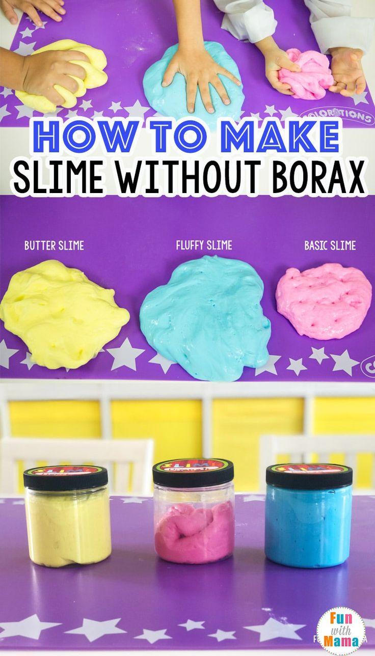 How To Make Slime Without Borax | Make slime for kids ...