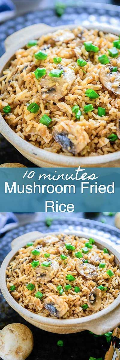 Use that leftover rice to make this easy Mushroom Fried Rice and see it disappear in minutes. Mushroom I Fried I rice I Indo Chinese I easy I simple I quick I One Bowl I No Clean I Leftover I