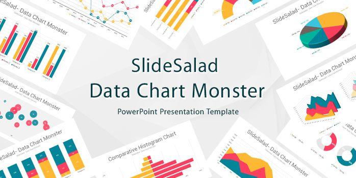 SlideSalad Data Chart Monster PowerPoint Presentation Template