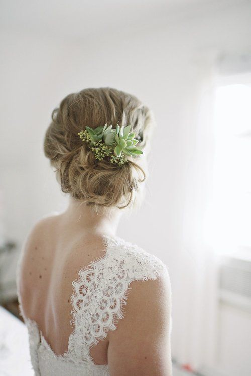 Wedding Hairstyle Ideas With Succulents Wedding Brides