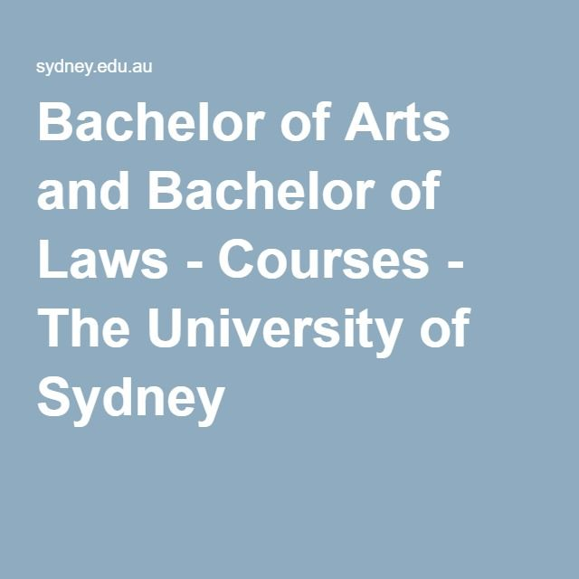 Bachelor of Arts and Bachelor of Laws - Courses - The University of Sydney