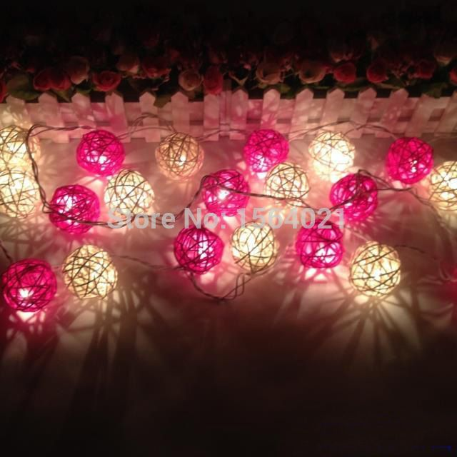 Find More Christmas Decoration Supplies Information about Free shipping 20pcs white +pink rattan balls with lights strings christmas/party decoration light strings,High Quality ball gowns size 20,China ball opener Suppliers, Cheap ball suction from YUGUO INDUSTRY AND TRADE LIMITED on Aliexpress.com