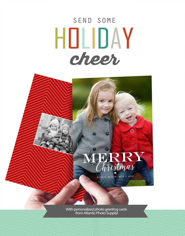 Share your favorite photos with friends and loved ones this holiday season. Custom photo greeting cards available from Atlantic Photo Supply.