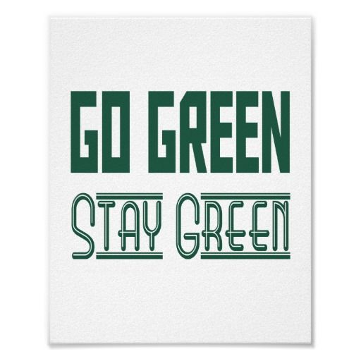 go green poster standard picture frame size