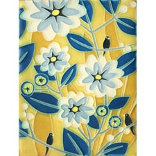 6x8 Tropicana Motawi Tile in Blue