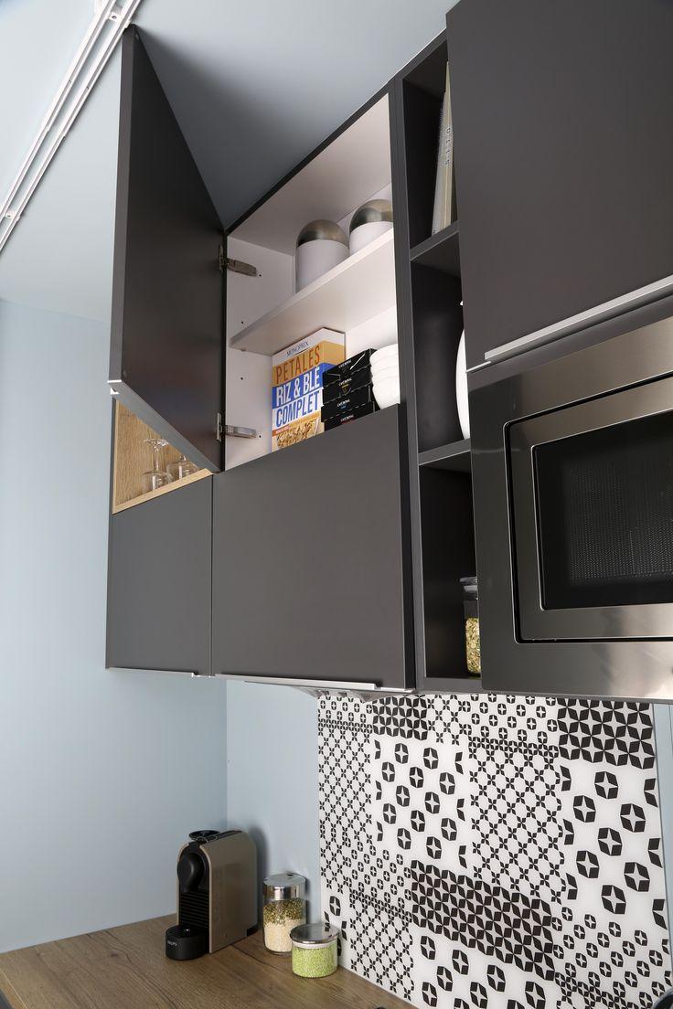 Comment bien équiper ma petite cuisine ? Choisir un électroménager à faible encombrement, adapté aux petits espaces !  Modèle : SoCoo'c Compact USA et Compact Trendy #petitecuisine #petitespace #cuisinemoderne #astuces #équipement #cuisines #combiné #électroménager