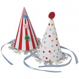 Toot Sweet Party Hats - Set of 8