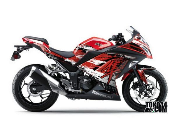 Sticker Modifikasi Ninja 250 FI Merah - Hayabusa Red