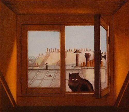 Le Chat Surveille par Lynn Shaler