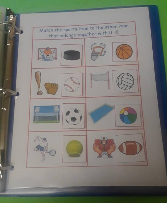 Sports Busy Book Page  Quiet Book Pages // Velcro // Busy
