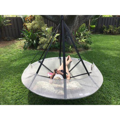 Flowerhouse Flying Saucer Hanging Chair with Bird and Bug Net - FHFSSVR