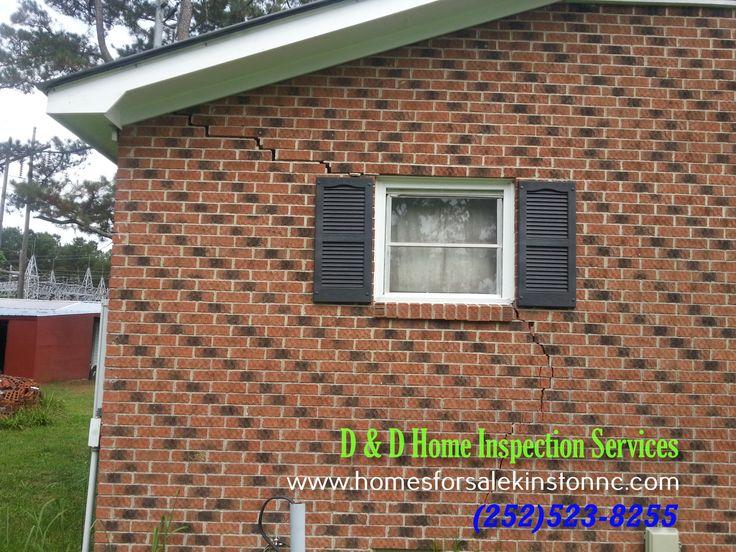 Major Structural Crack found during a Home Inspection in Eastern North Carolina.   Jacksonville, Richlands, Maysville, Trenton, New Bern, Greenville, Kinston, Farmville, Goldsboro, Smithfield, Snow Hill, Pink Hill, Deep Run