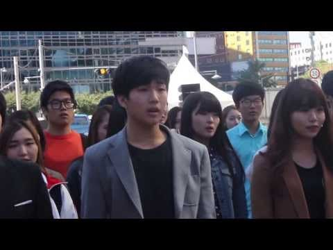 Les miserables flashmob in seoul, Korea/레미제라블 플래시몹 (하이서울 페스티벌 초청작) - YouTube