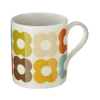 These Orla Kiely mugs would complement my dishes nicely. I wish I would have bought the target version when she was in target! :(