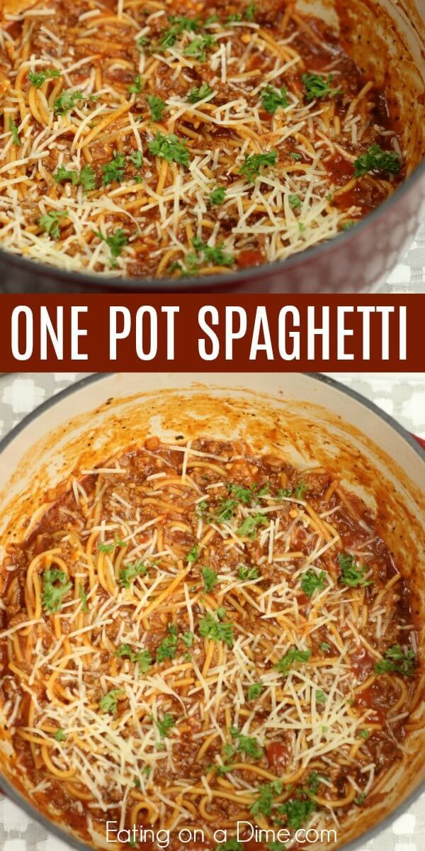 Lazy Day One Pot Spaghetti Recipe Easy Pasta Recipes One Pot