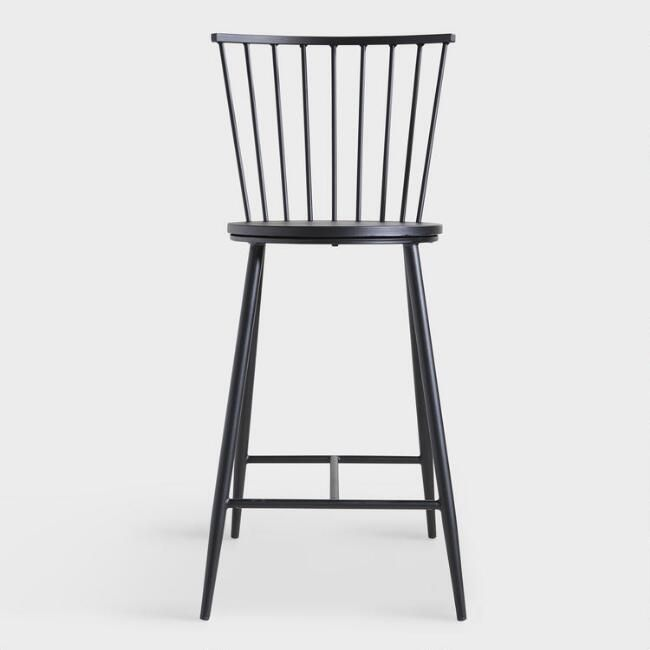 Black Steel Neal Counter Stool Black Counter Stools Kitchen