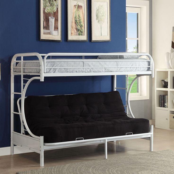 Acme Furniture Eclipse Twin XL-over-Queen Futon Bunk Bed