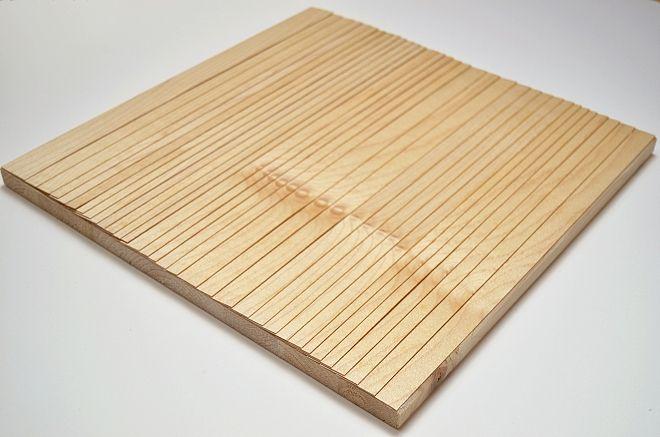 Eva Francová, Parcela 1605/4, wood, 40 x 40 x 2 cm, 2016
