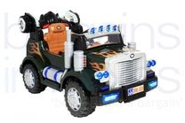 12V Fire Truck Styled Ride On Truck - Green