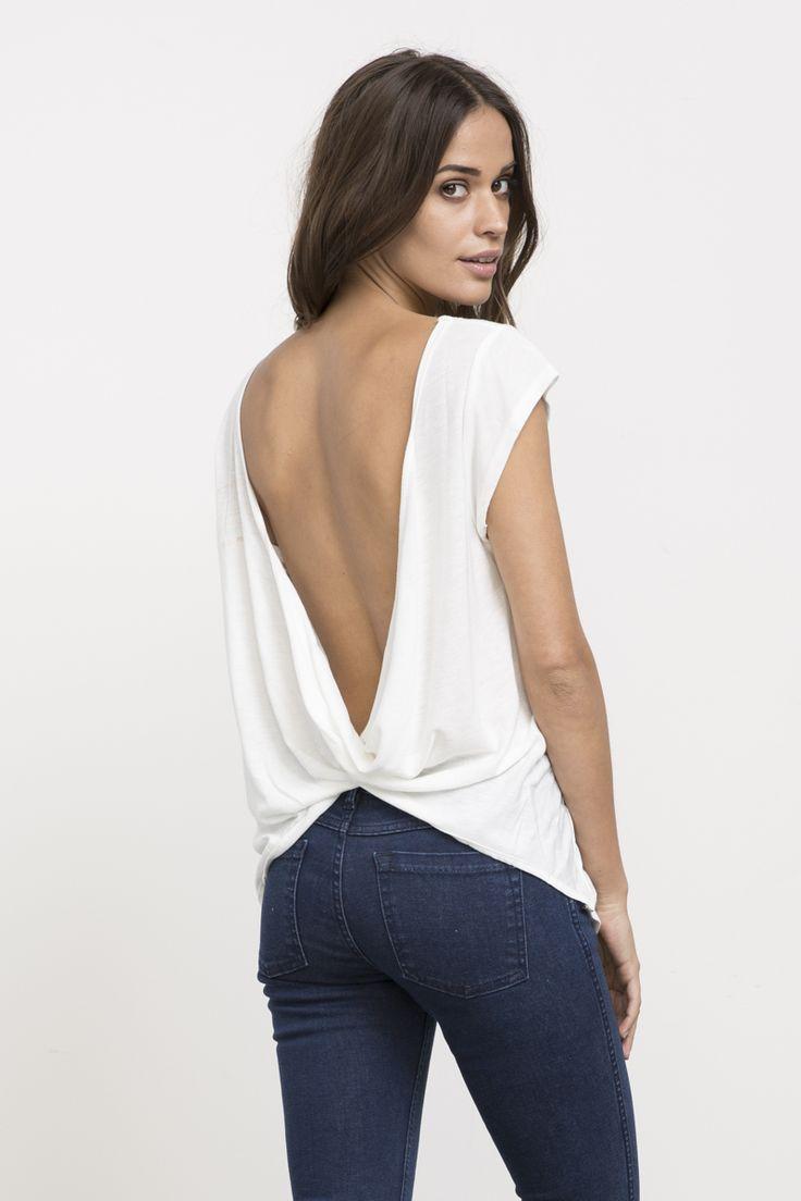 Label Cowl Back T-Shirt | RVCA