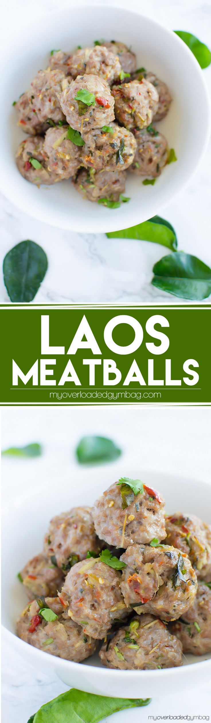 A low FODMAP recipe. An easy, exotic, no fuss Laotian meatball that sends your tastebuds on a South East Asian adventure!   myoverloadedgymbag.com