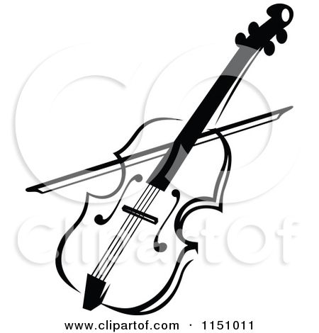 clipart of a black and white viola or fiddle violin royalty free rh pinterest com fiddle clipart black and white fiddle clipart free