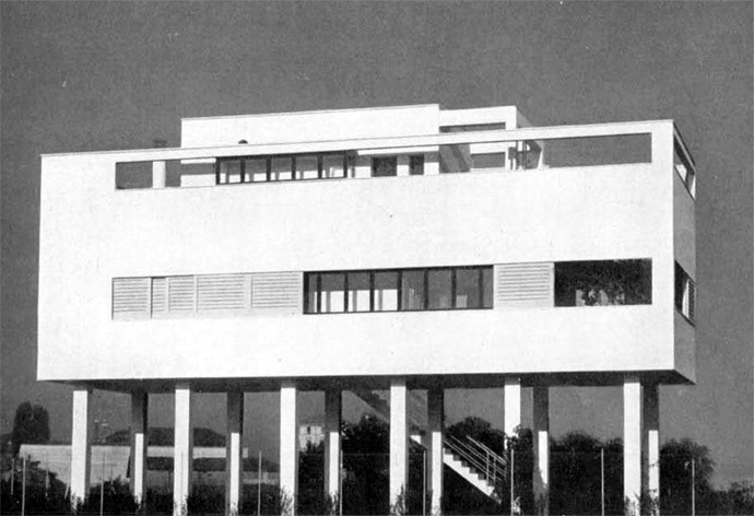 Not Tendenza ... Italian rationalism. Luigi Figni, 1934. Clearly some Le Corbusier inspiration here...