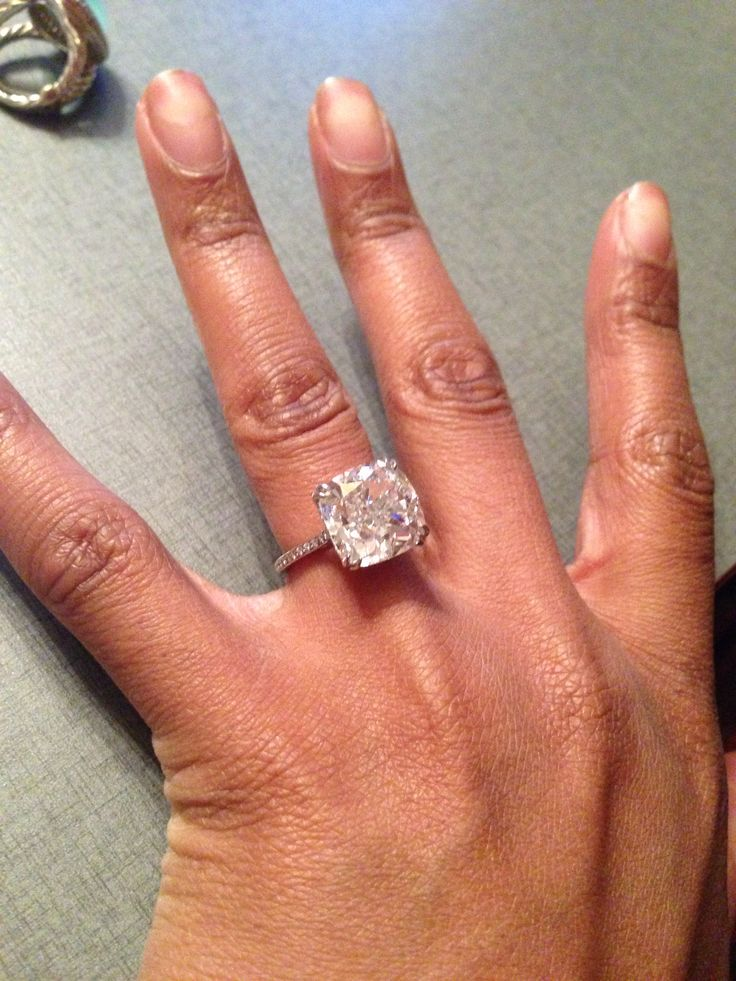 Love This Ring Find Pin And More On Cushion Cut Solitaire