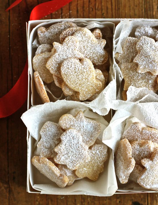 1¼ c. self-rising flour* 1 stick (8 tbsp.) unsalted butter ⅓ c. sugar ½ tsp. vanilla 1 c. confectioners sugar for dusting