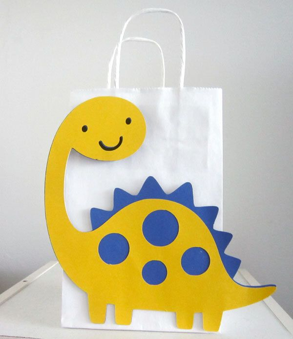 Dinosaur Birthday Party Favor, Goody Bags, Gift Bags by CraftyCue on Etsy https://www.etsy.com/listing/188297728/dinosaur-birthday-party-favor-goody-bags