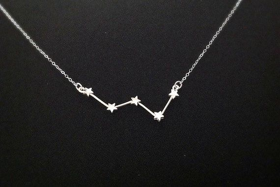 Cassiopeia Constellation Necklace Sterling Silver by OnceUponASine
