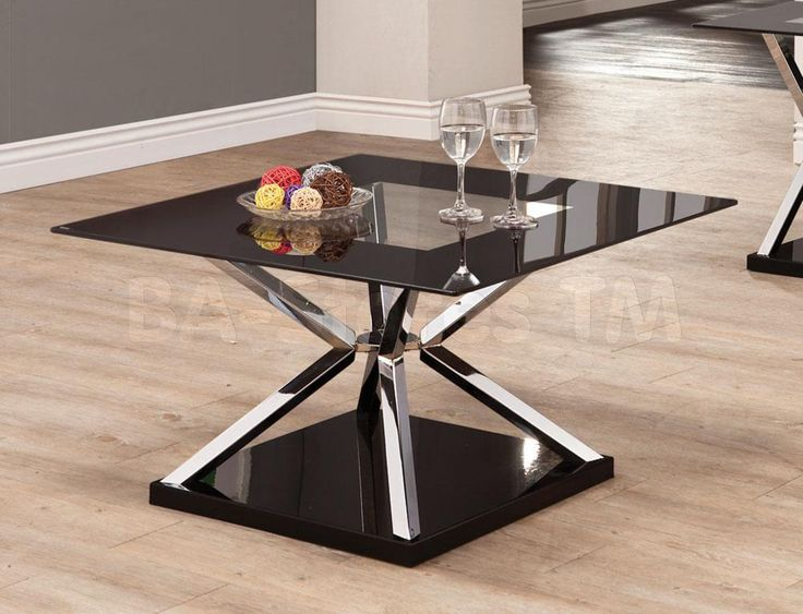 Best Modern Coffee Table W Black Framed Glass Top And A Dual 640 x 480