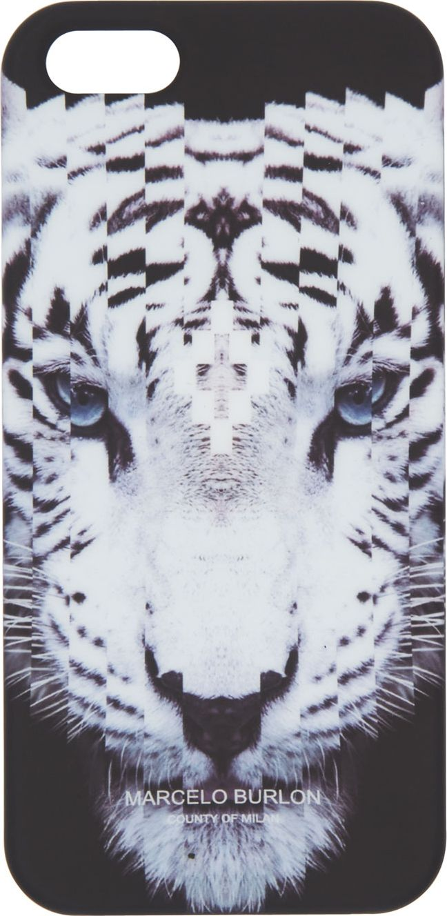 Black & White Tiger Face - Marcelo Burlon County of Milan iPhone 5 Case